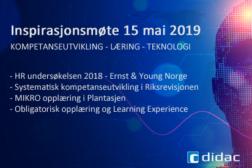 Inspirasjonsmøte 15 mai 2019