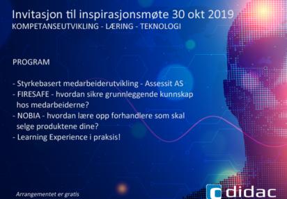 Inspirasjonsmøte LÆRING 30 oktober